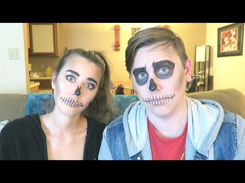 American Couple Tries Mexican Candy | feat. Day Of The Dead Makeup