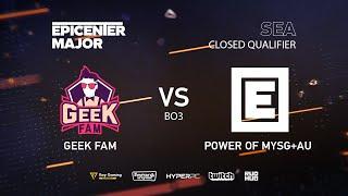GeekFam vs MYSG, EPICENTER Major 2019 SA Closed Quals , bo3, game 2 [Mila & Mortalles]