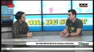 Ora de sport-Bogdan Paul, antrenor volei SCM Pitesti