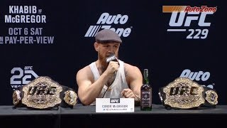 Video UFC 229 Pre-fight Press Conference: Khabib vs McGregor MP3, 3GP, MP4, WEBM, AVI, FLV Desember 2018