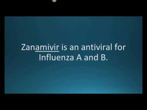 How to pronounce zanamivir (Relenza) (Memorizing Pharmacology Flashcard)