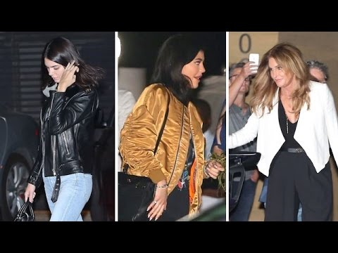 Ladies Night Out! Kendall And Kylie Dine With Dad Caitlyn Jenner In Malibu