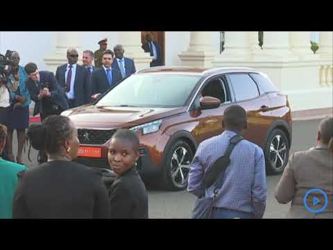 Macron And Uhuru Test Drive First Peugeot Car To Be Assembled In Kenya