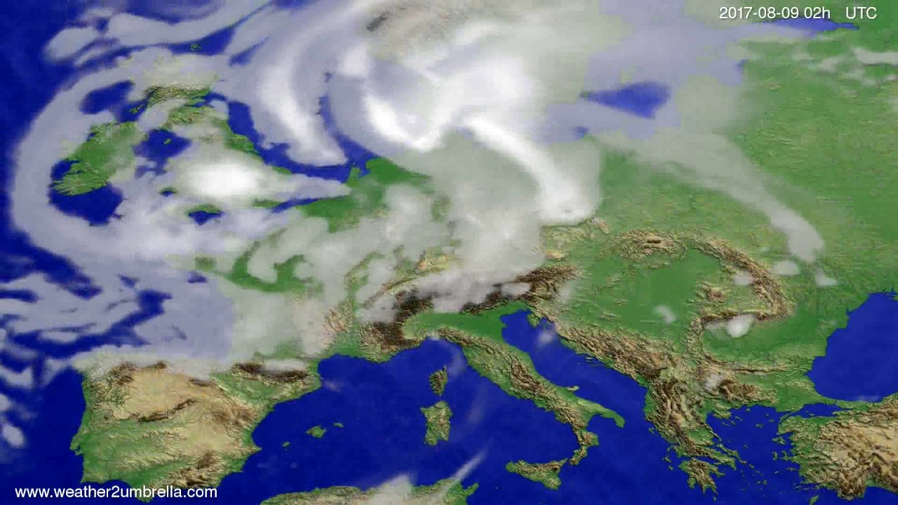 Cloud forecast Europe 2017-08-05