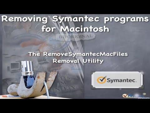 Removing Symantec Programs for Macintosh