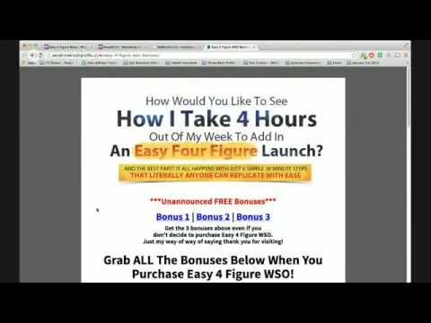 Easy 4 Figure WSO Review and Bonuses