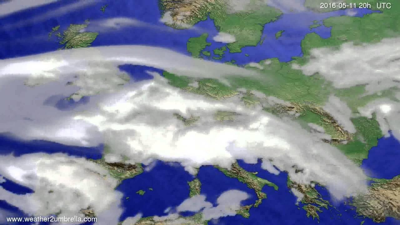 Cloud forecast Europe 2016-05-09