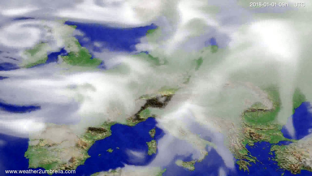 Cloud forecast Europe 2017-12-30