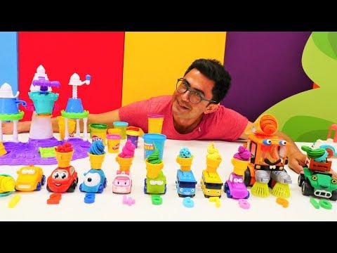 Play Doh dondurma dükkanı. Nail Baba ile renkleri ve sayıları öğreniyoruz
