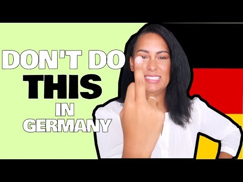 Dont Do this in Germany