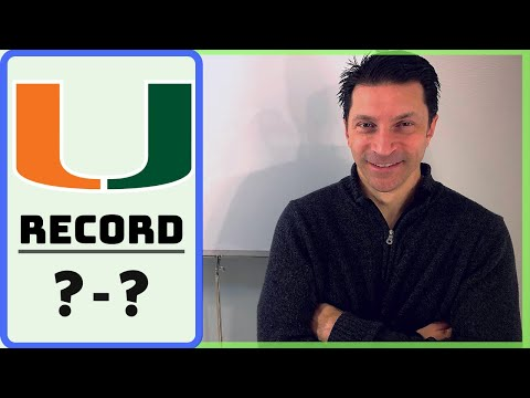 BEST TALENT, BUT... / Miami Hurricanes RECORD PROJECTION & SCHEDULE RANKING