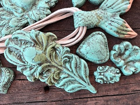 IOD Faux Carved Turquoise