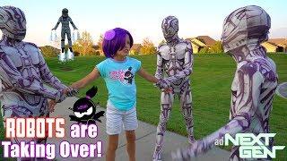 ROBOTS are TAKING OVER NINJA KIDZ TV!! NEXT GEN New Movie!