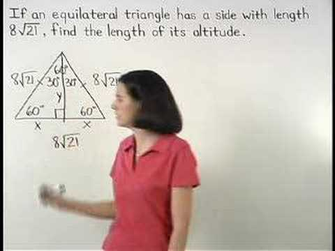 geometry - For a complete lesson on 30-60-90 triangles, go to http://www.MathHelp.com - 1000+ online math lessons featuring a personal math teacher inside every lesson!...