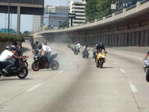 DFW Memorial Day Street Stunt Session - I-75 Shut-Down