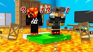 MINECRAFT DON'T TOUCH THE FLOOR CHALLENGE! (MCPE)