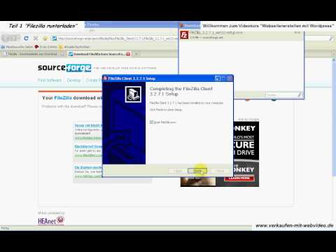 Homepage kostenlos erstellen, Filezilla runterladen tutorial