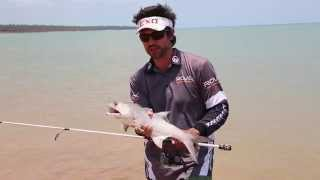 Beach fishing with lures in the tropics