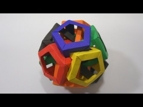 Kusudama Tutorial - 030 -- Six Pentagonal Prisms