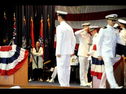 Paul Naquin Graduation From Navy Officer Candidate School
