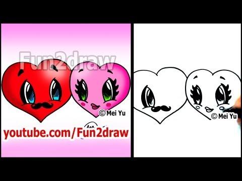 Fun2draw Valentines Day Hearts Fun2draw Stars By The