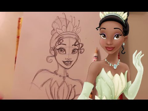 how to draw princess and the frog