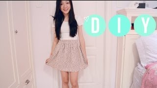 ❥ DIY Shorts Into Skirt { CLOSET RAID } - YouTube