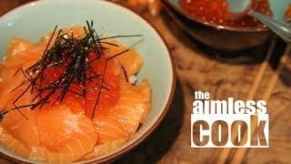 Salmon and Roe Sushi Bowl - Umi no Oyakodon