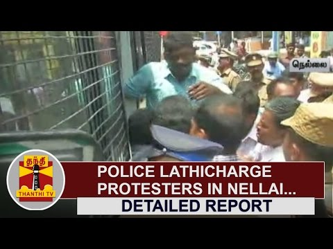 Police-Lathicharge-Protesters-at-Nellai-Thanthi-TV