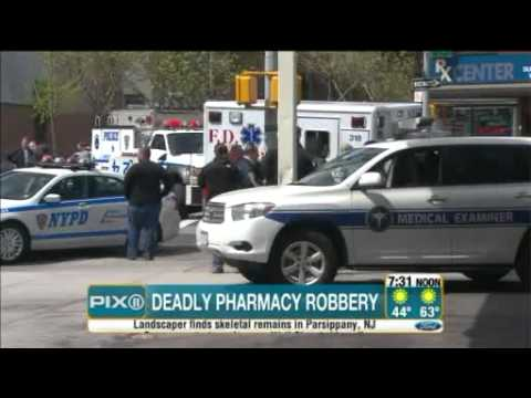 Armed Black Gangster shot dead by Retired NYPD Lt. after a Pharmacy Robbery