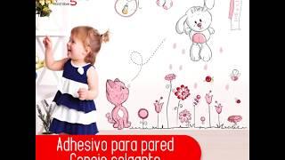 Adhesivo para pared - Conejo colgante