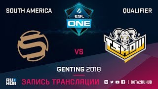 Sacred vs T Show Rising, ESL One Genting SA Qualifier, game 2 [Autodestruction]
