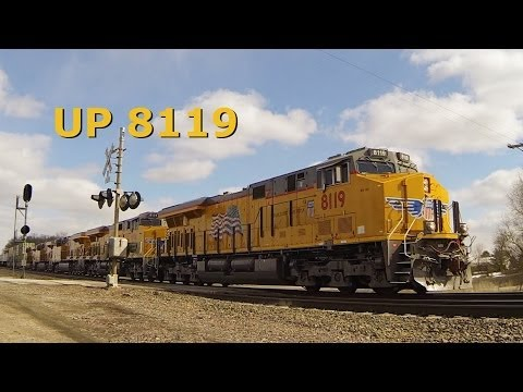 ES44AC - By the signals at Francis Road on the Union Pacific's Geneva subdivision. Five new, so-called GEVOs. This is the westbound