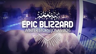 Winter Storm Jonas 2016: 24 Hour Timelapse in 30 Seconds, Virginia Blizzard 2016