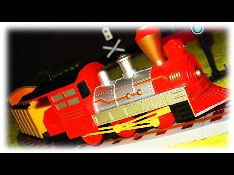 VIDEO FOR CHILDREN - Classic Train Strela, Toy Railroad on the Remote Control with a Red Locomotive