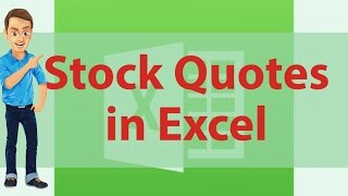 How to get stock quotes in excel using msn money central stock quotes excel is shown in this video. I showed How to get stock...