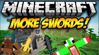 Minecraft: MORE SWORDS! (10+ new swords!) | Mod Showcase [1.5.2]
