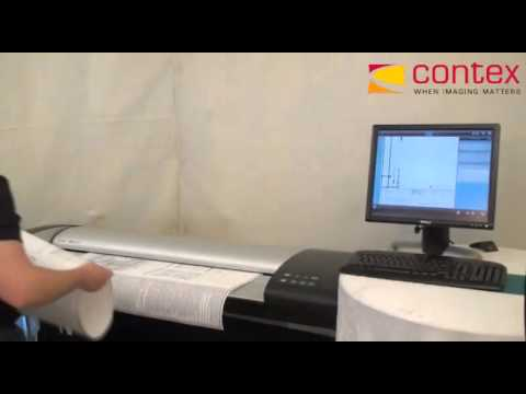 Contex large format scanner   batch scan   YouTube