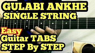 Video Gulabi Aankhen Guitar Tabs/Lead Lesson | SINGLE STRING | Easy for Beginners | Atif Aslam download in MP3, 3GP, MP4, WEBM, AVI, FLV January 2017