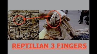 Alien,Mummy,Peru,Ancient,Sumerian,Reptilian,Stone,Carving,Three,Fingers,Connecting,Dots,Latest...