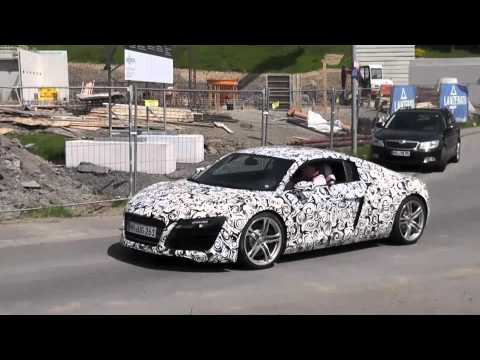 worldcarfans - A prototype for the facelifted Audi R8 has come out to play one more time while we continue to wait for the German auto maker to release official details. Re...