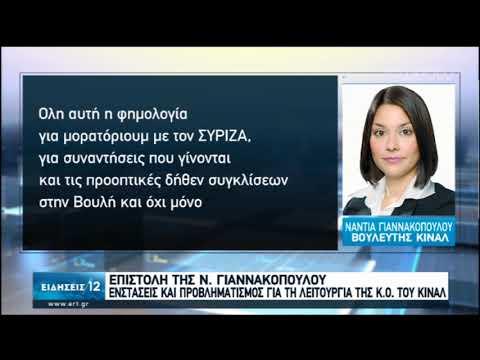 Επιστολή της Ν. Γιαννακοπούλου για λειτουργία της ΚΟ του ΚΙΝΑΛ | 14/02/2020 | ΕΡΤ