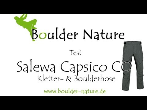Salewa Capsico CO - Test & Hands on | Kletterhose & Boulderhose