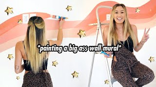 painting a big a$$ wall mural  // EXTREME MAKEOVER EPISODE 2 by LaurDIY