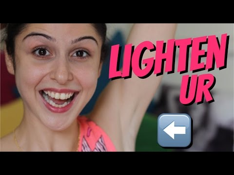 how to whiten black underarms