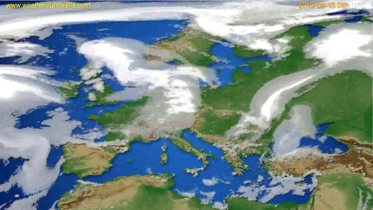 Cloud forecast Europe // modelrun: 12h UTC 2019-08-13