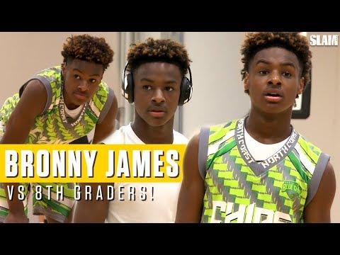LeBron James Jr. drops dimes on OLDER competition: Full Highlights