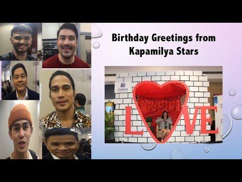 Family Bonding @ Shakeys + Birthday Greetings from ABS-CBN stars