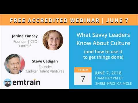 Steve's Podcast with Janine Yancey on What Saavy Leaders Need to Know about Culture