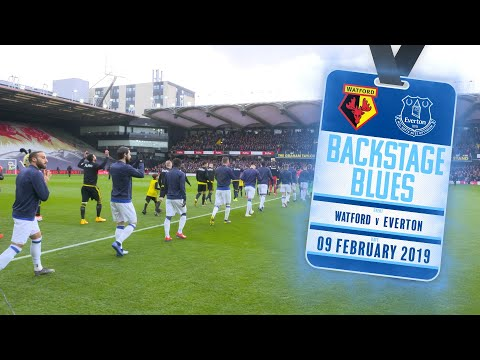 Video: BEHIND-THE-SCENES AT VICARAGE ROAD | BACKSTAGE BLUES: WATFORD V EVERTON